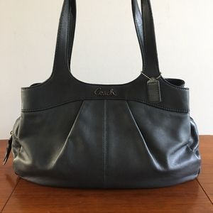 Coach leather pearlized  gray